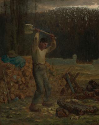 Jean-François Millet. The Woodchopper