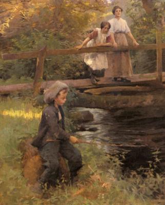 Гарольд Харви. Рыбалка на лесном ручье