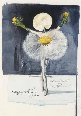 "Salvador Dali. Costume design for the ballet ""Mad Tristan"""