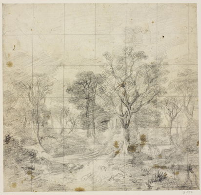 """Томас Гейнсборо. Рисунок к картине """"Корнардский лес"""""""