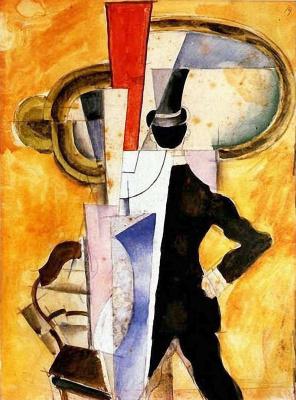 Иван Альбертович (Жан) Пуни. «Автопортрет в зеркале» 1921