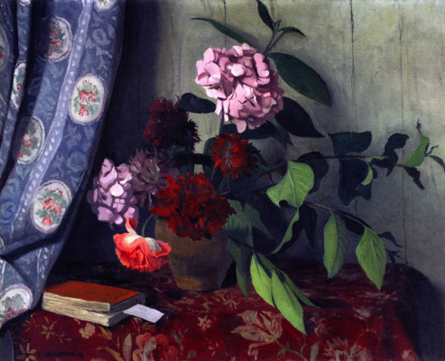 Felix Vallotton. Hydrangea and poppies
