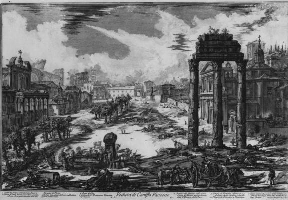 Giovanni Battista Piranesi. View of the Roman forum