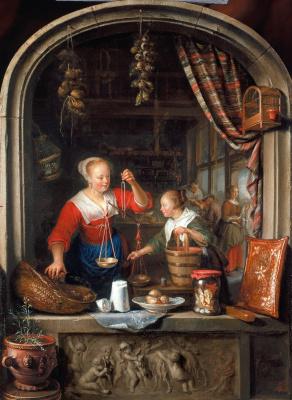 Gerrit (Gerard) Dow. Shop Bucarasica