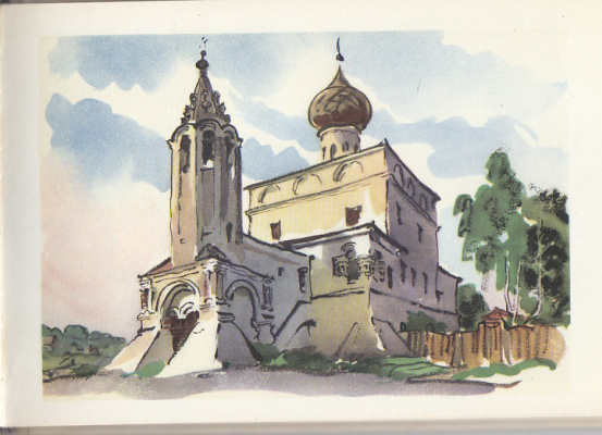 Emmanuel Bentsionovich Bernstein. Church of the Transfiguration in Fryazinov
