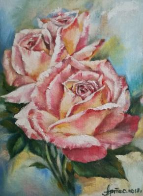 Olga Yuryevna Serebrova-Artes. Three roses