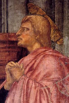 Tommaso Masaccio. The Holy Trinity. Fragment. St. John