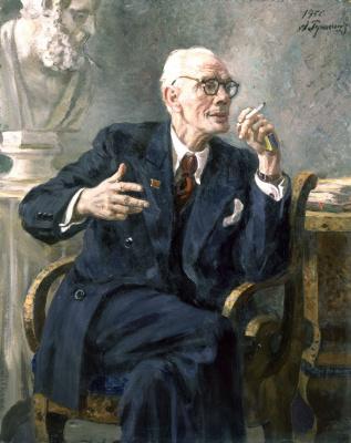 Alexander Mikhailovich Gerasimov. Portrait of B.I. Yakovlev. 1950