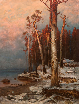 Julius Klever. Winter on the lake Peipsi