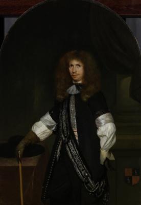 Gerard Terborch (ter Borch). Portrait of Jacob de Graff in officer uniform