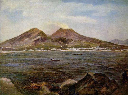 Йозеф Ребелл. Вид на Неаполитанский залив