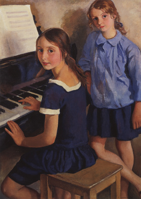 Zinaida Serebryakova. Girls at the piano