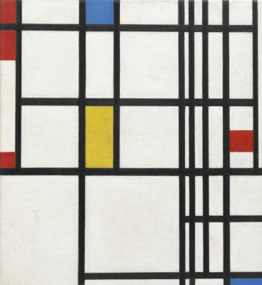 Piet Mondrian. Composition with red, blue and yellow