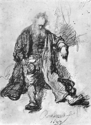 Rembrandt Harmenszoon van Rijn. Sketch drunken Lot