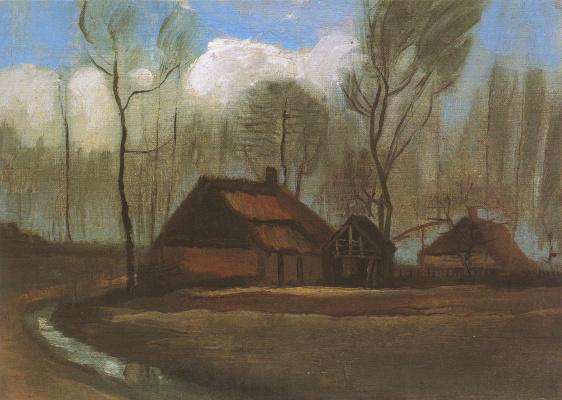 Винсент Ван Гог. Фермерские домики в роще
