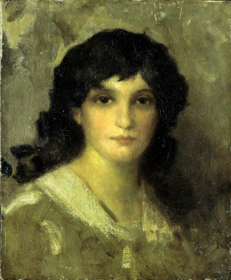James Abbot McNeill Whistler. Head of a young woman
