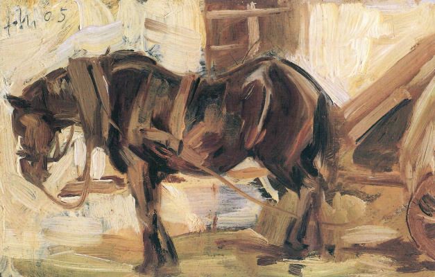 Franz Marc. Sketch with the horse