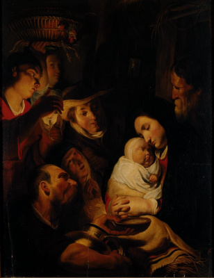 Якоб Йорданс. Adoration of the Shepherds