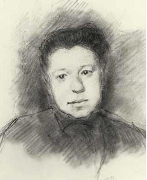 Ilya Semenovich Ostroukhov. Portrait of the artist Elena Polenova