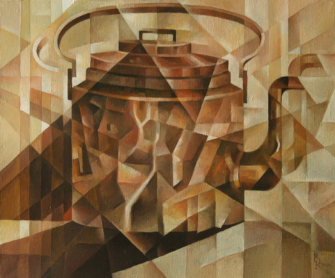 Vasily Krotkov. Copper kettle. Kubofuturizm