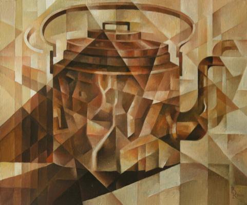 Василий Вячеславович Кротков. Copper kettle. Kubofuturizm