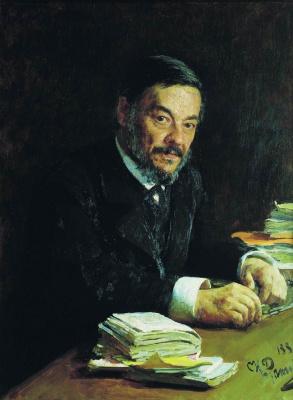 Ilya Efimovich Repin. Portrait of physiologist I. M. Sechenov