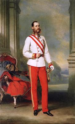 Франц Ксавер Винтерхальтер. Император Франц Иосиф I, одетый в форму австрийского фельдмаршала
