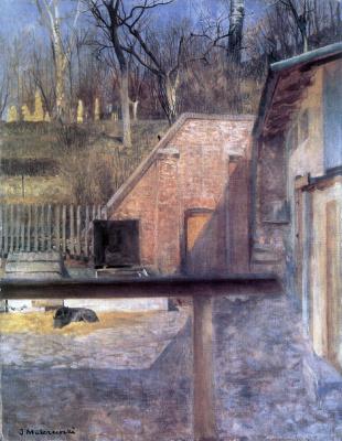 Яцек Мальчевский. Внутренний дворик в зверинце, Краков