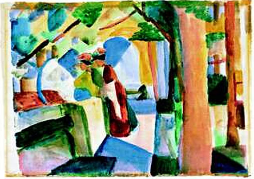 August Macke. At the cemetery