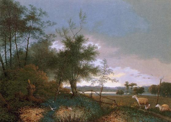 Йозефус Книп. Пейзаж в Брабант