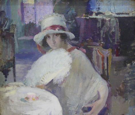 Pavel Petrovich Benkov. Portrait of T. A. Firsova
