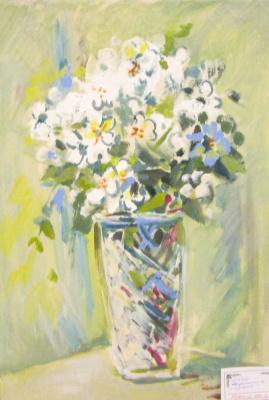 Yuri Ukolov. Bouquet in a vase.