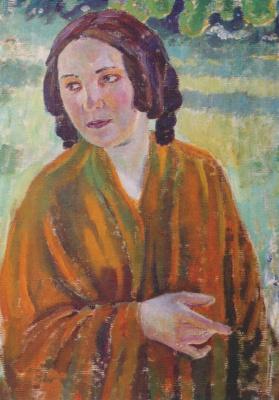 Виктор Эльпидифорович Борисов-Мусатов. Женщина в желтой шали