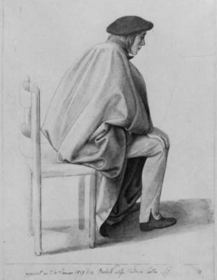 Julius Schnorr von Karolsfeld. Setting of Friedrich Overbeck in the white Cape