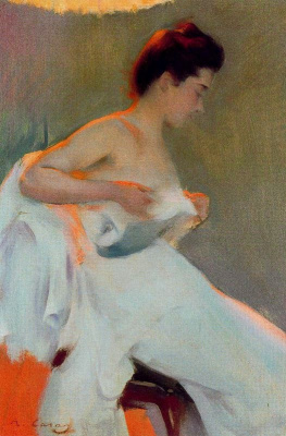 Ramon Casas i Carbó. Light and a woman. Etude