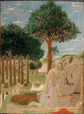 Пьеро делла Франческа. Святой Иероним в пустыне