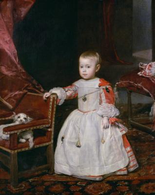Diego Velazquez. Portrait of Prince Felipe Prospero
