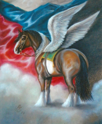 Margarita Anatolievna Chakova. The allegory of the horse