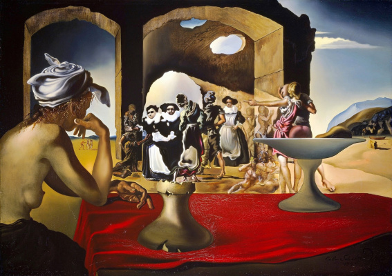 Salvador Dali. Slave Market with Voltaire's Vanishing Bust