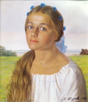 Alexander The maksovich Shilov. Portrait Of Olenka