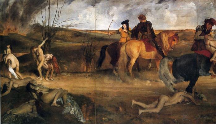 Сцены войны в средние века