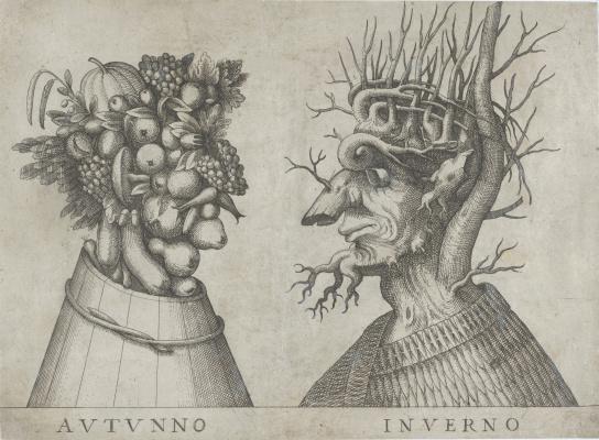 Giuseppe Arcimboldo. The autumn and winter. Sketches
