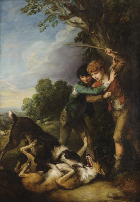Thomas Gainsborough. Boys-shepherds and fighting dogs