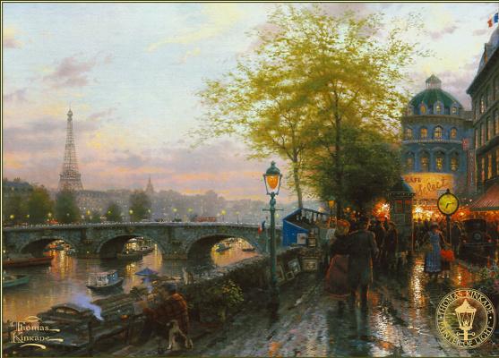 Томас Кинкейд. Париж. Эйфелева башня