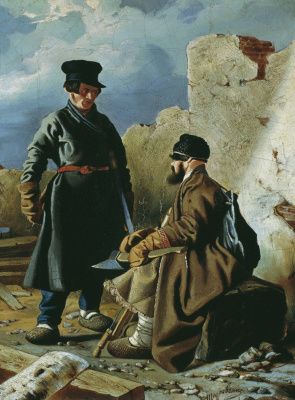 Игнатий Степанович Щедровский. Плотники. 1839