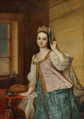 Dmitry Grigorievich Levitsky. Portrait of Agathia Dmitrievna (Agashi) Levitskaya