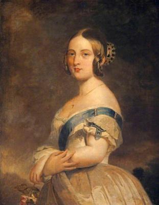 Franz Xaver Winterhalter. Portrait of a young Queen Victoria (re-version)