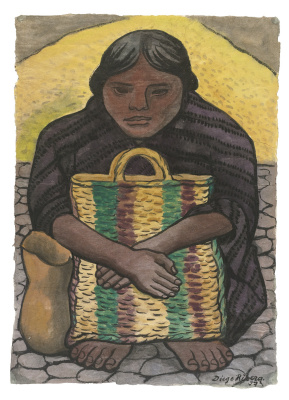 Diego Maria Rivera. Woman with bag