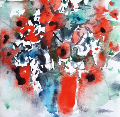 Monica Lemeshonok. Red bouquet