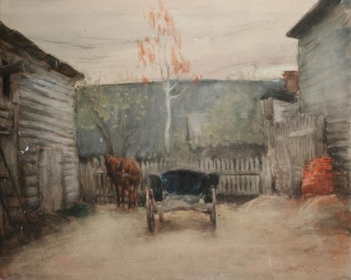 Осип Эммануилович (Иосиф) Браз. Дворик. 1901